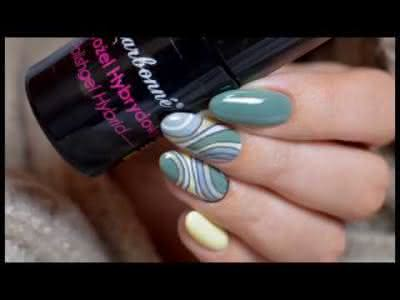 Proste wzorki jesienna abstrakcja Simple abstract nail art ¦ ♥ Gabriellenails ♥ Charbonne ♥