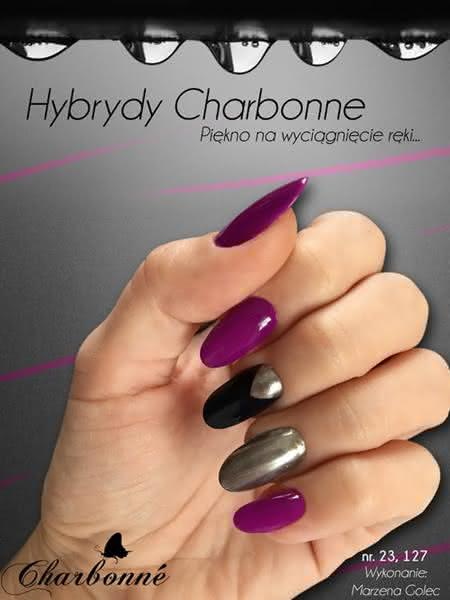 GBARIELLE NAILS CHARBONNE HYBRYDY Lakier do paznokci